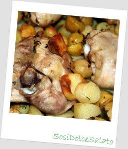 Pollo e patate novelle alle erbette aromatiche