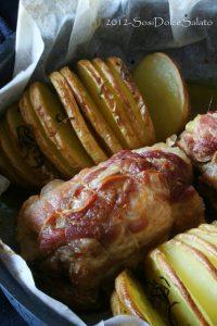 Pollo e Patate Hasselback