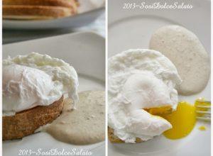 Colazione Americana: Uovo alla Benedict, Brioche ,Grissini, Marmellata di cipolle e Maionese