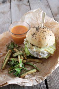 fishburger fiori di zucca mozzarella bufala